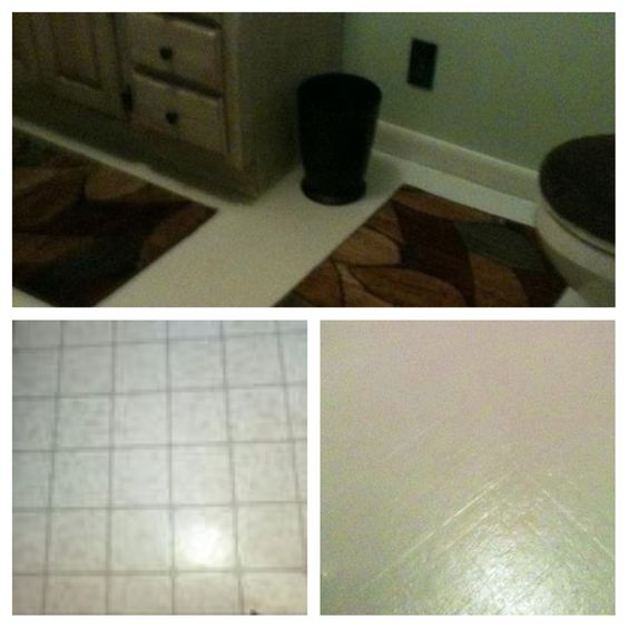 Painted Bathroom Floor