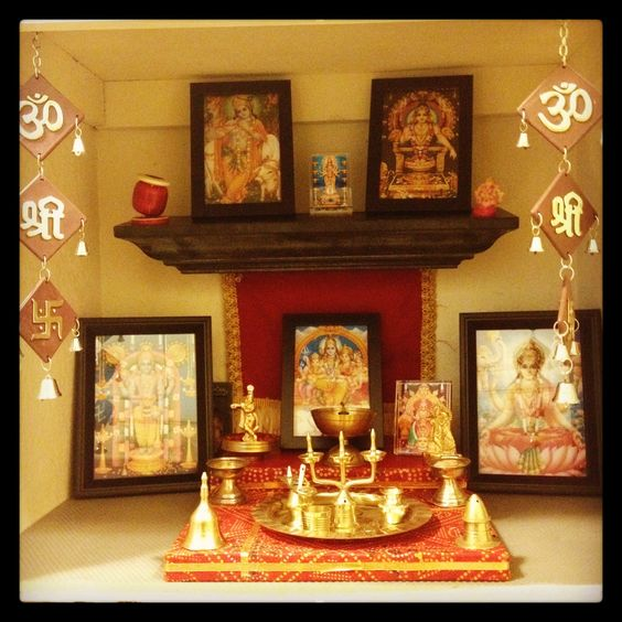 Pooja room projects to try pinterest for Decoration kaise kare