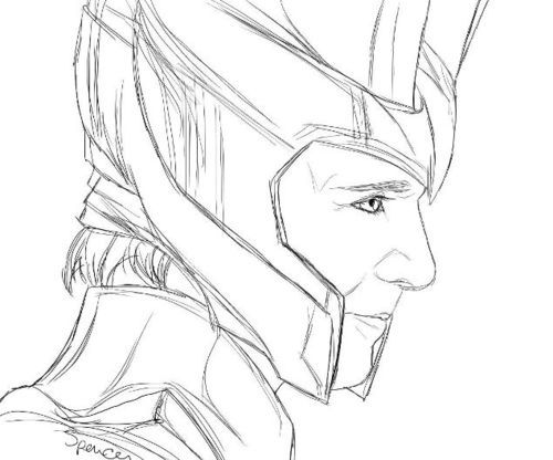 Loki Coloring Pages