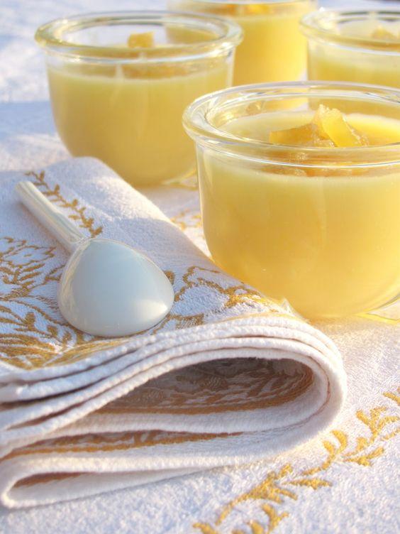 Tra dolce ed amaro: Köstliches Gelb zum Löffeln: Zitronen-Honig-Crème mit Ingwer
