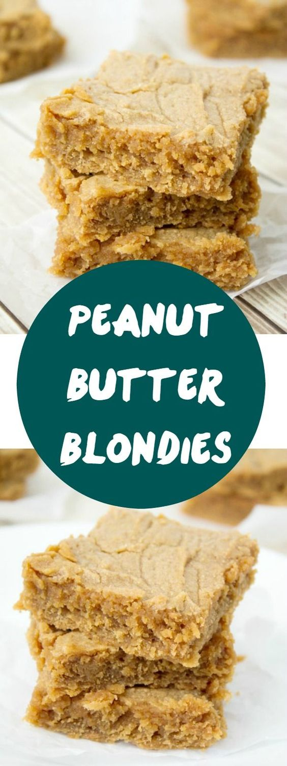 Peanut Butter Blondies | Recipe | Stove, Peanut butter and Sons