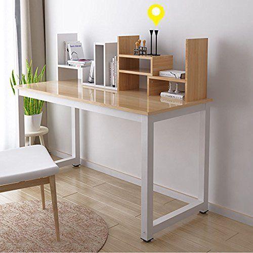 mesa de oficina Estink Escritorio con espacio de almacenamiento mesa de trabajo 124 x 60 x 74 cm para oficina mesa de ordenador sala de estar mesa de ordenador con estanter/ía