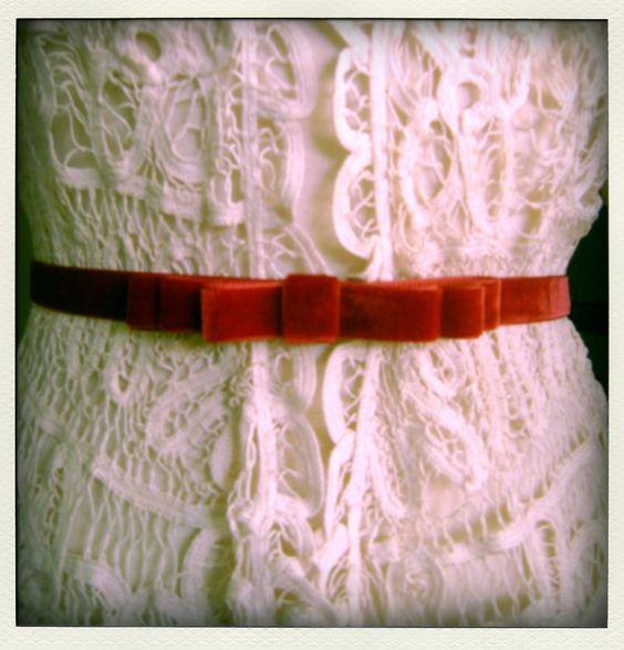 pretty bow belt