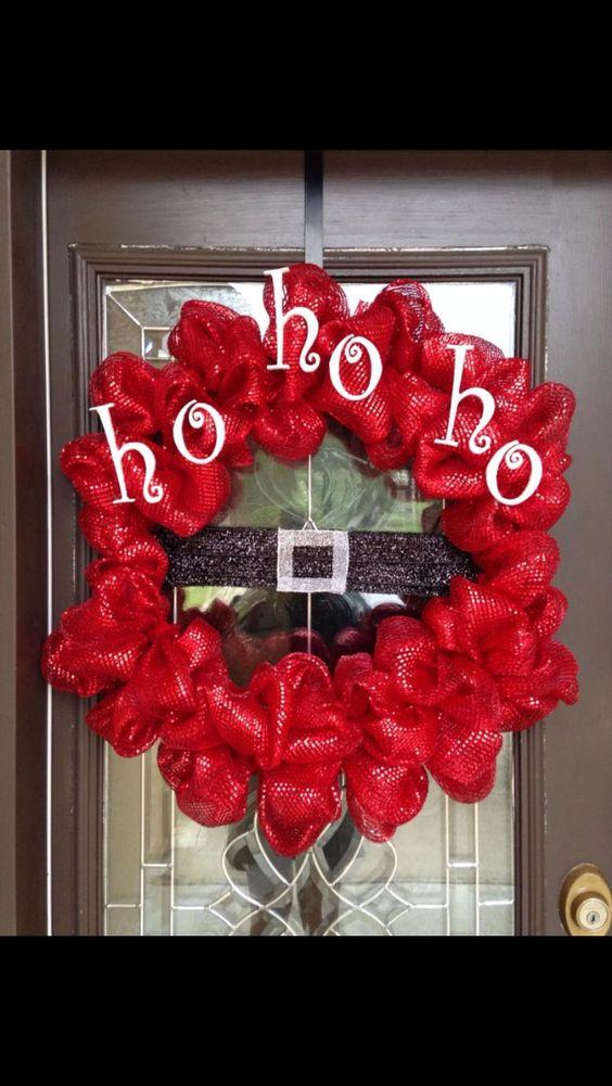 Ho! Ho! Ho! Red Mesh