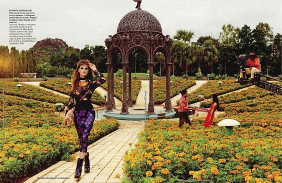 """The Terrier and Lobster: """"Cinematic License"""": Anouck Lepere in Bollywood by Bharat Sikka for Vogue India"""