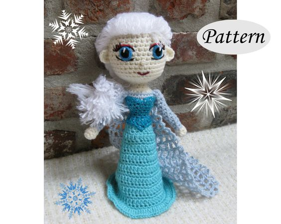 PATTERN - Snow Queen Elsa - Amigurumi - Crochet Doll ...
