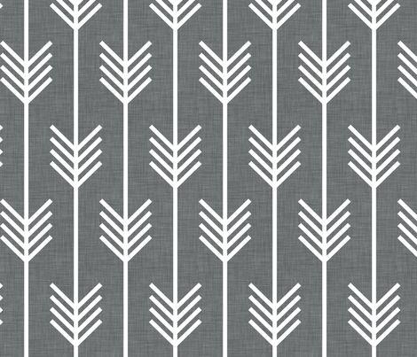 arrows_gray fabric by holli_zollinger on Spoonflower - custom fabric