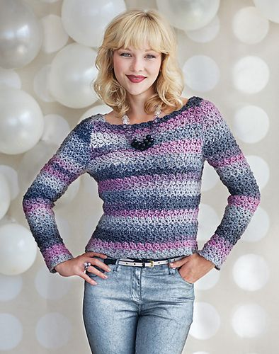 Live and Let Dye Sweater pattern by Elena Malo, Crochet Today magazine ...