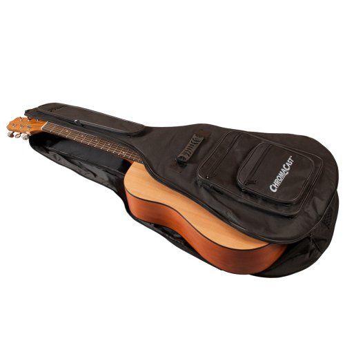 Chromacast Acoustic Guitar 6 Pocket Padded Gig Bag With Guitar Strap And Pick Sampler Guitar Strap Guitar Accessories Acoustic Guitar