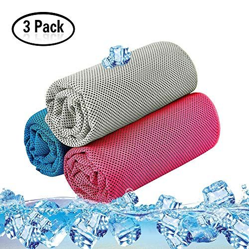 Doubmall Cooling Towel Ice Sports Towels Mesh Stay Cool Towel For Neck Gym Travel Golf Yoga Hiking Running Biking