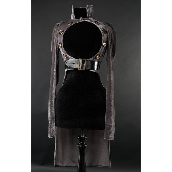 Steampunk Openbust Tailcoat ($85) ❤ liked on Polyvore featuring outerwear, long jacket and longline jacket