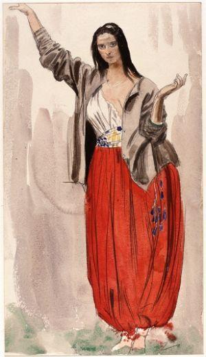 John, Dorelia in Eastern Dress
