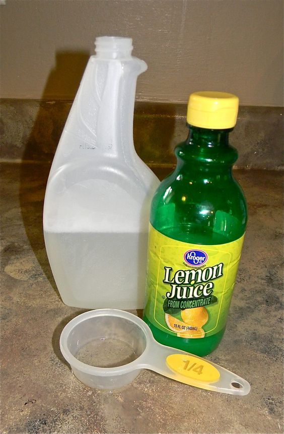 natural hard water stain removal product.   I mixed up 14oz. white vinegar, 2oz lemon juice, 2oz. dawn dish liquid.