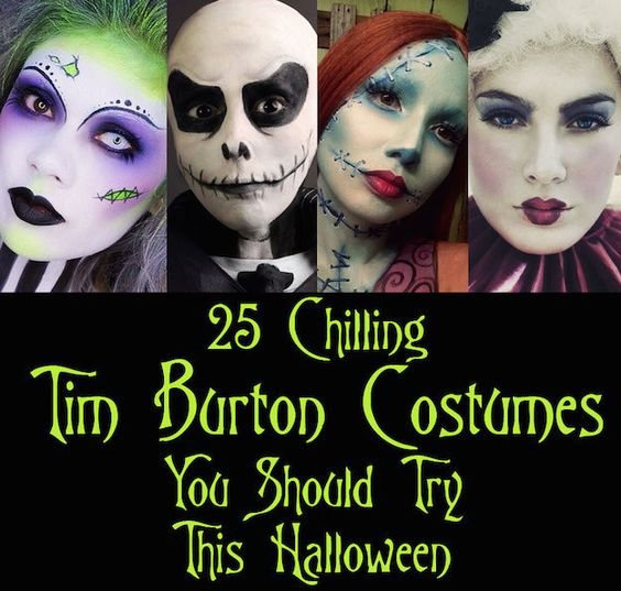 25 chilling tim burton costumes you should try this. Black Bedroom Furniture Sets. Home Design Ideas