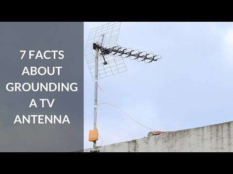 You Need To Ground An Outdoor Tv Antenna To Minimize Potentially Harmful Effects Of Static Electricity Build Up During Tv Antenna Outdoor Tv Antenna Outdoor Tv