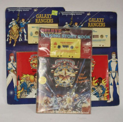 Lot-of-3-Galaxy-Rangers-Audio-Stories-Books-on-Cassette-Tape-Unopened