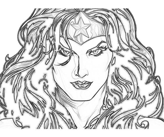 Download Coloring Pages Wonder Woman Pages In Pages: Wonder Woman, Coloring Pages And Faces On Pinterest