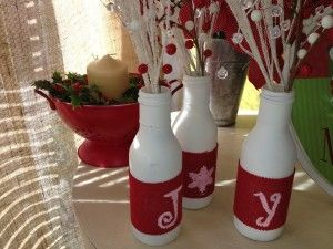 Repurposed bottles made into Christmas decor at Better Than Ever, Paducah, KY. Pick up some dishes at Anything Goes Trading Co. when they have their famous parking lot sales!