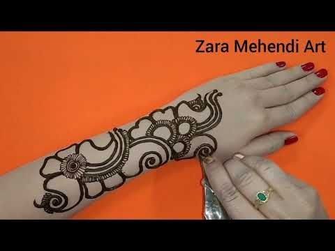 easy mehndi design arabic