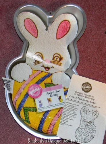 wilton bunny cake pan instructions