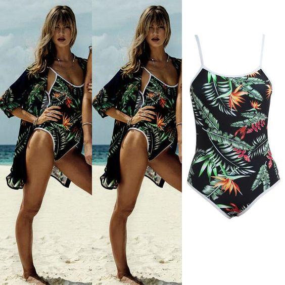 2017 Womens One-piece Swimsuit - Sexy Backless Swimwear - Monokini Bodysuit - Beachwear Bathing Suit - Green ( Swimmers Only )
