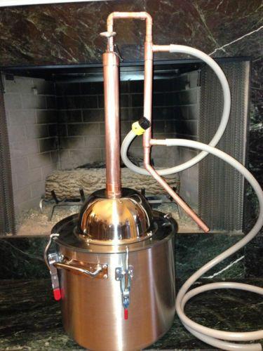 Copper-Alcohol-Moonshine-Ethanol-Still-E-85-Reflux-HD8-Gallon-Stainless-Boiler