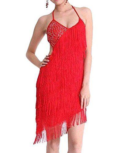 PrettyGuide S/M Deco Gatsby 1920s Sequins Vintage Fringe Sway Flapper Halter Dress Red PrettyGuide http://www.amazon.com/dp/B00MUBHZWS/ref=cm_sw_r_pi_dp_UBTavb031T3RK