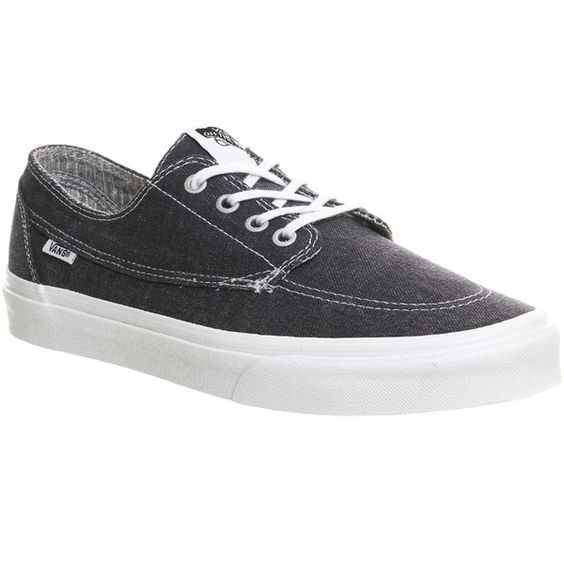 Vans Brigata ($77) ❤ liked on Polyvore featuring mens, men's shoes, men's sneakers, asphalt, his trainers, shoes and trainers