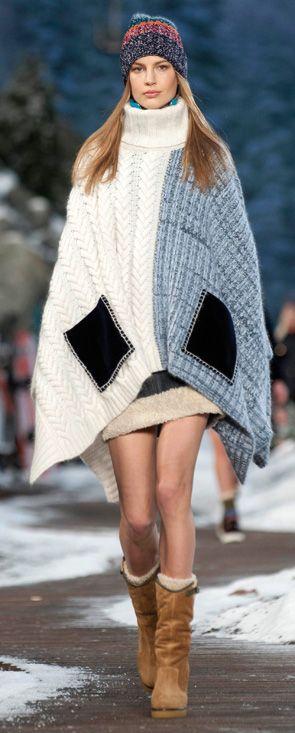 Le poncho juste avant le manteau: