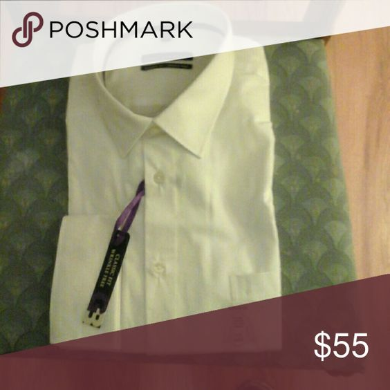 Man's White Shirt White long sleeve shirt (34/35) Geoffrey Beene Shirts Dress Shirts