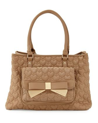 Be+Mine+Forever+East-West+Tote+Bag,+Spice+by+Betsey+Johnson+at+Neiman+Marcus+Last+Call.