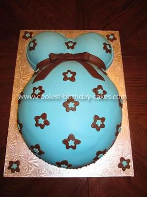 Coolest Pregnant Belly Cake... This website is the Pinterest of baby shower cakes