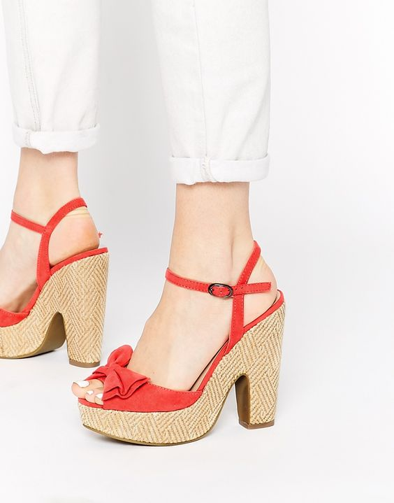 Call It Spring Delora Bow Heeled Sandals
