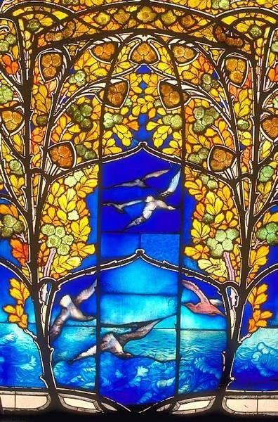 jugendstil stained glass - gorgeous!