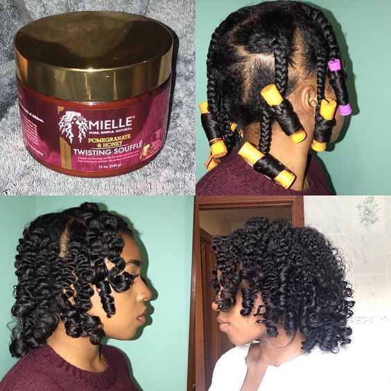 35 Transitioning Hairstyles For Short Hair Hair Styles Hair Style Ideas Blackyhairstyle In 2020 Braids With Curls Short Hair Styles Transitioning Hairstyles