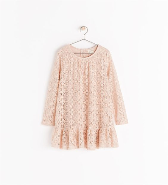 FRILLED DRESS WITH BUTTONS from Zara  http://www.zara.com/us/en/collection-aw14/girl/dresses/frilled-dress-with-buttons-c269256p2125063.html