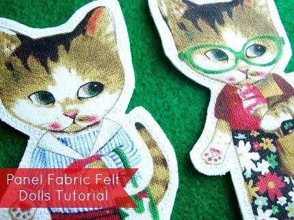 Tutorial: Make felt backed flannel board dolls from a panel print