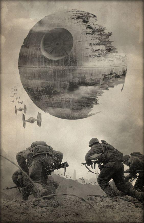 STAR WARS DEATH STAR WW2  T SHIRT