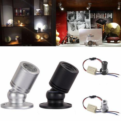 10 X 1w Led Mini Spot Lampe Downlight Avec Transformateur 220v Cabinet Gallery Ebay Showcase Cabinet Cabinet Lighting Lights
