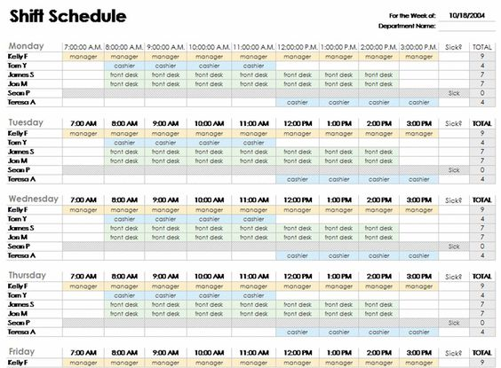 free employee shift schedule template for excel excel template 2003 tiyihh73 software. Black Bedroom Furniture Sets. Home Design Ideas