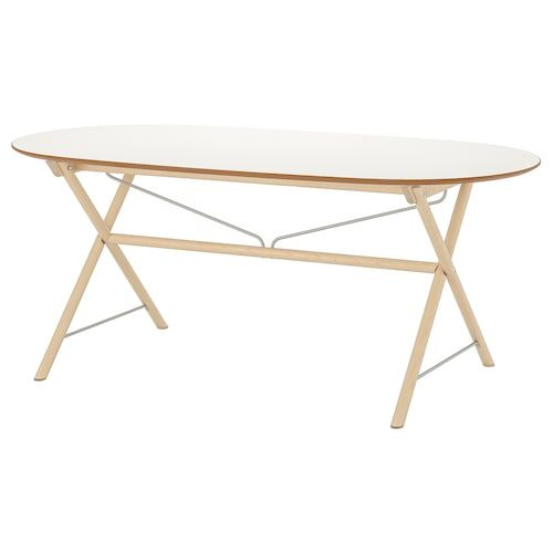 Slahult Table White Birch Dalshult White Birch Ikea In 2020 Ikea Stainless Steel Table Top Stainless Steel Table