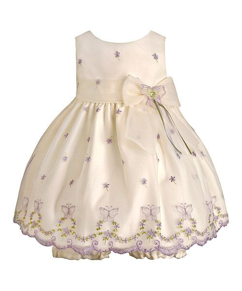 Candlelight Butterfly Embroidered Dress & Bloomers by American Princess #zulilyfinds