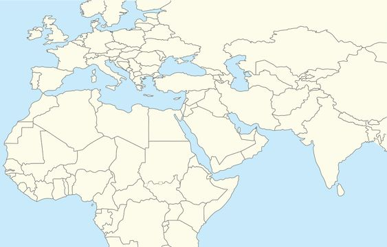 blank map middle east with other areas Maps Pinterest Middle