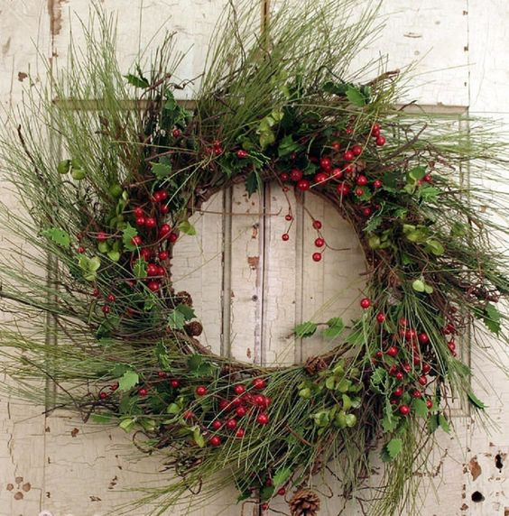 Wreaths For Door - Winter Solstice Door Wreath, $74.99 (http://www.wreathsfordoor.com/winter-solstice-door-wreath/)