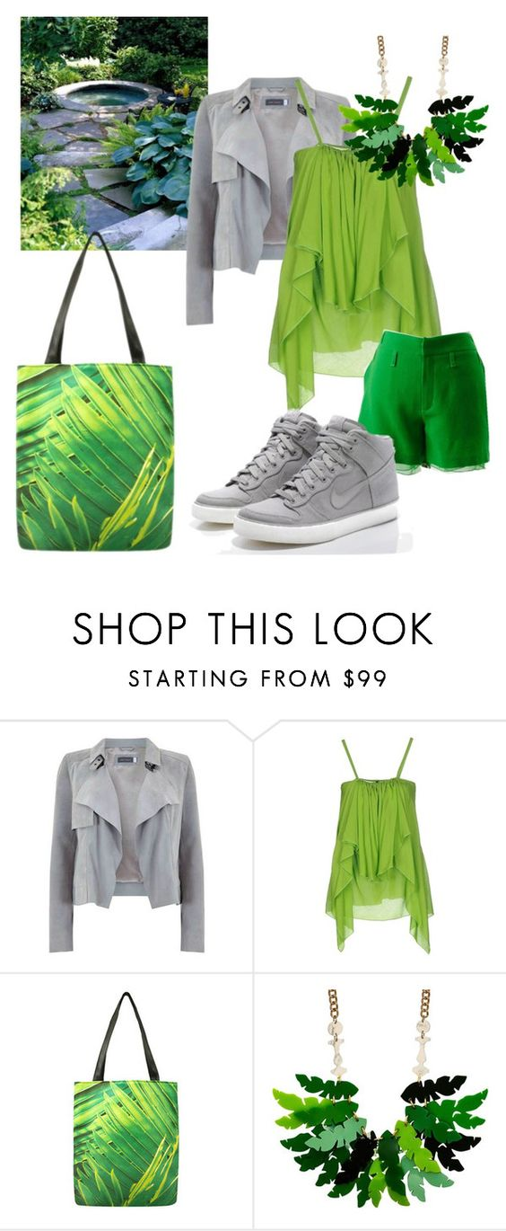 """Jungle inside"" by getttt ❤ liked on Polyvore featuring Plein Sud, Chris Benz and NIKE"