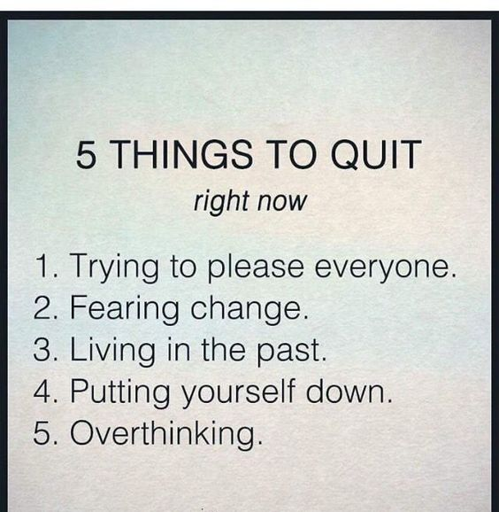 Take control of your life today by starting these 5 things…