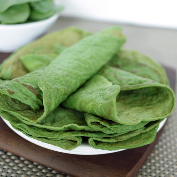 Savory Paleo spinach crepes. Gluten-free, grain-free, dairy-free.