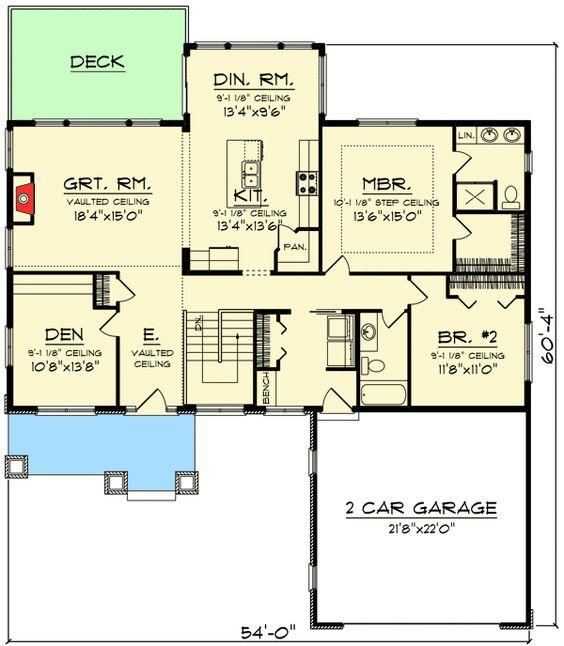 Plan 89954ah 2 Bed Craftsman Ranch Home Plan Home
