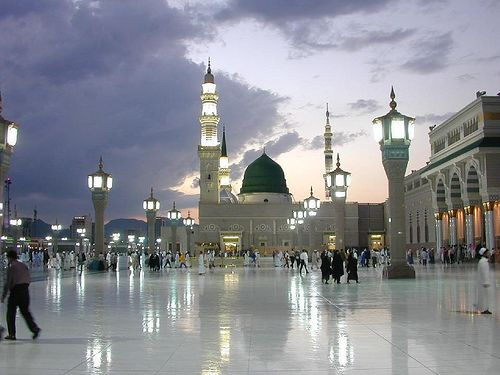 The Prophet's Mosque in Madinah , Saudi Arabia