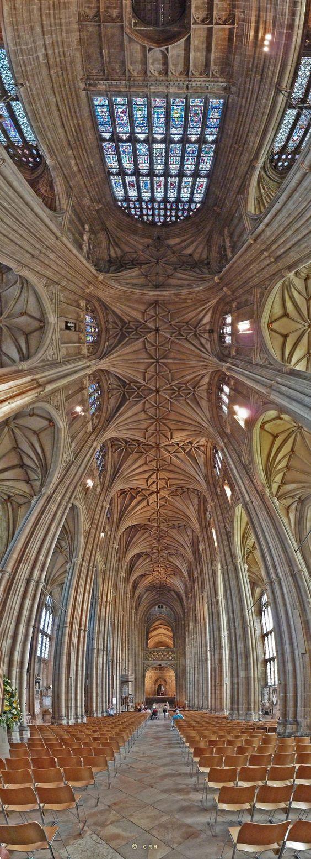Interior of Canterbury Cathedral, Canterbury, Kent, England